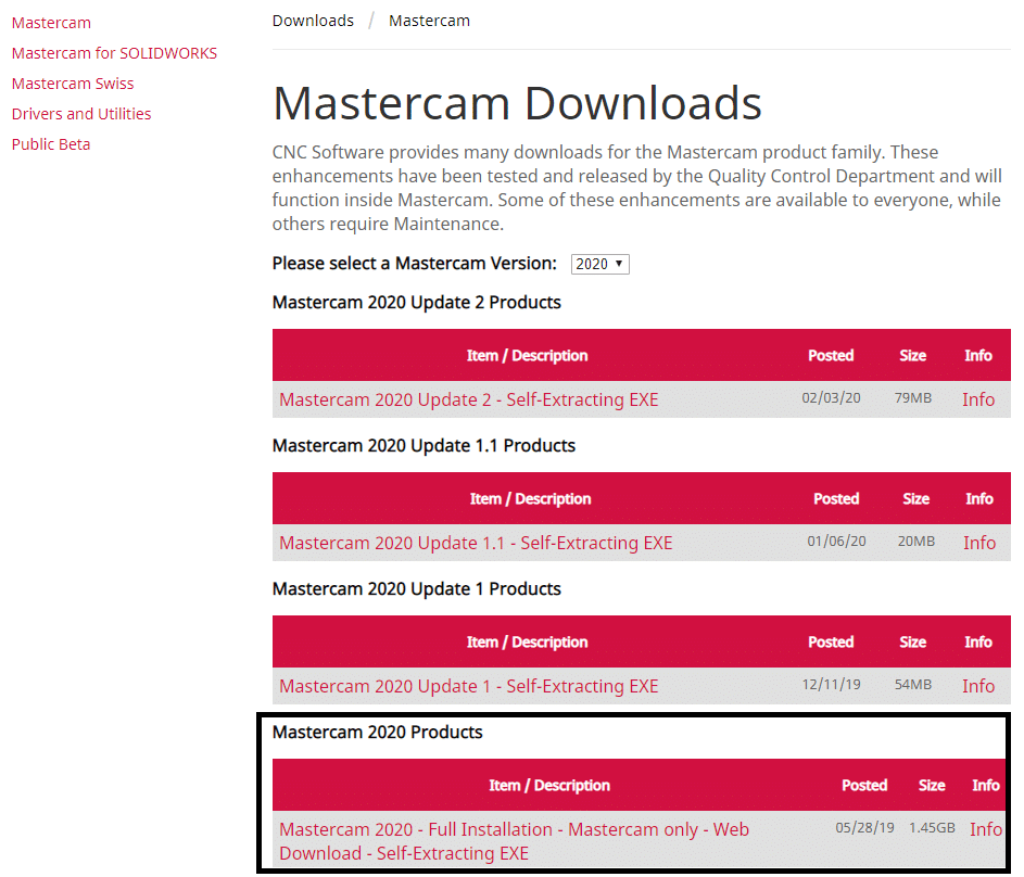 Install mastercam 2020 from download