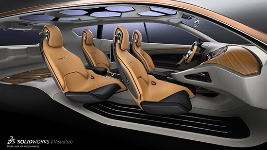 SOLIDWORKS Visualize Car Interior