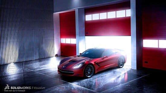 SOLIDWORKS Visualize Corvette