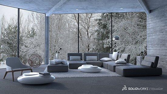 SOLIDWORKS Visualize Interior Design