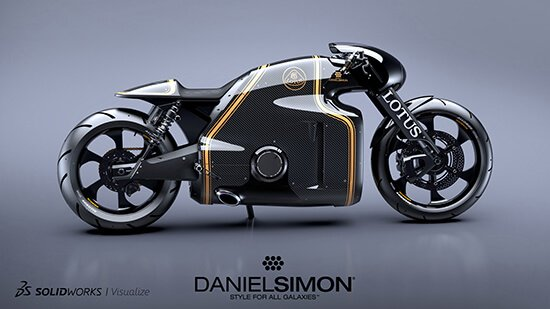 SOLIDWORKS Visualize Lotus Motorcycle