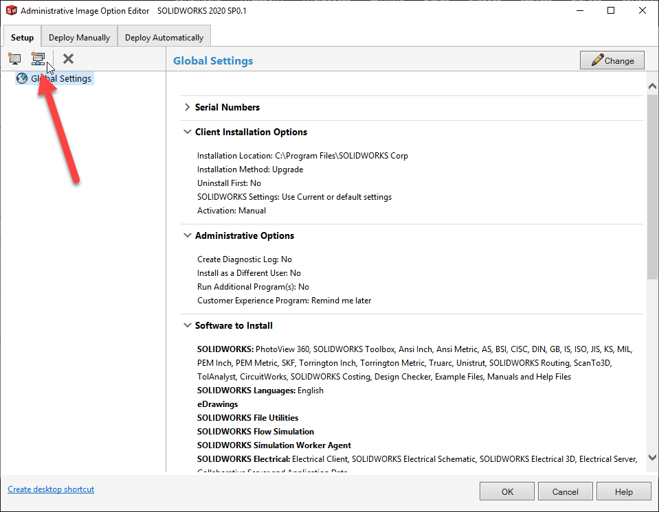 Add SOLIDWORKS Groups and Machines