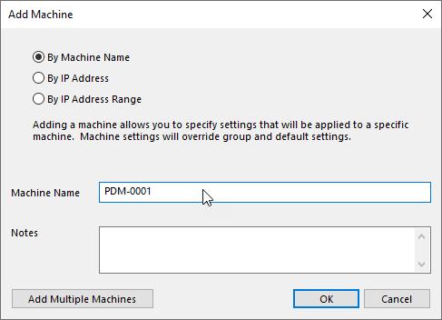 Input Machine name