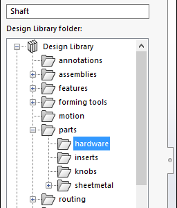 Add a part to design library