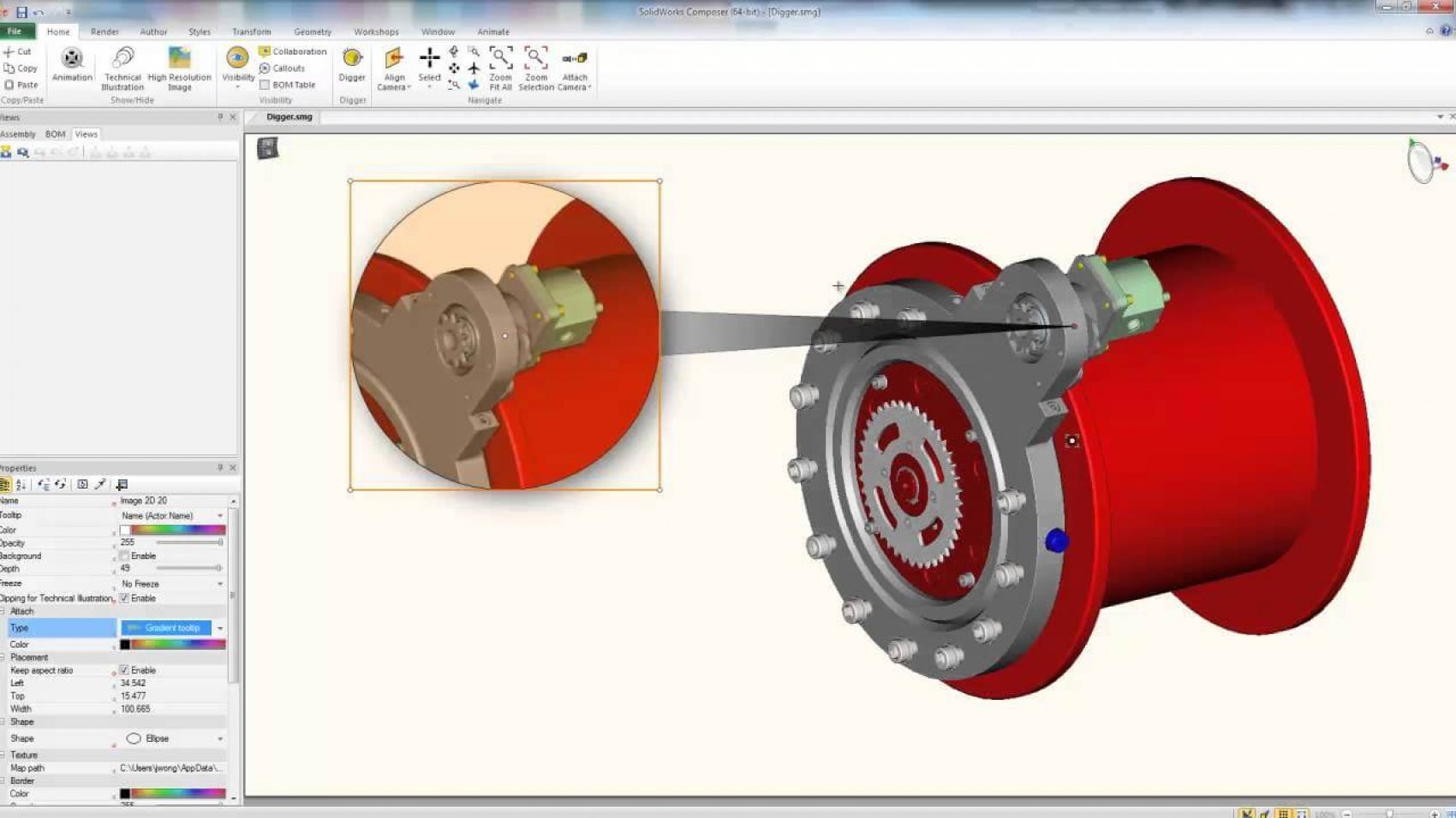 Using the Digger Tool in SOLIDWORKS Composer | MLC CAD
