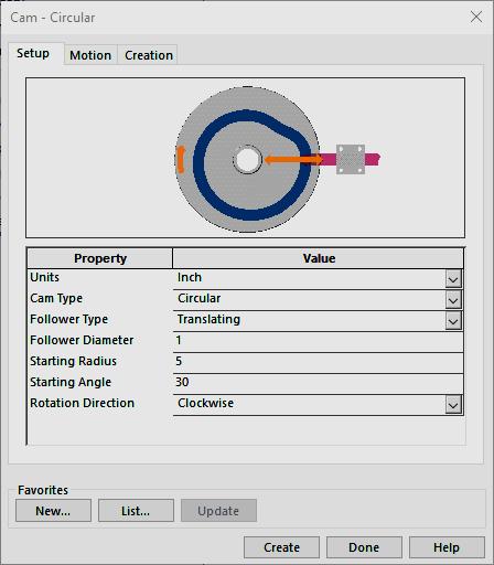 cam circular
