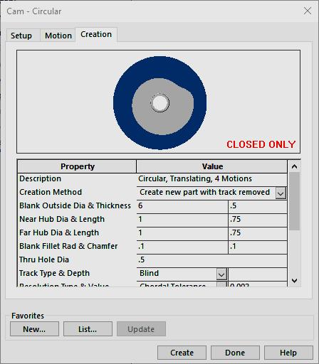 cam circular creation