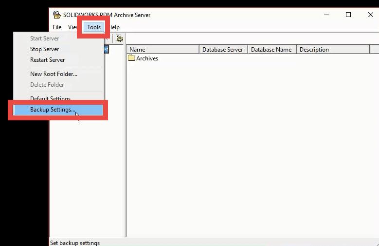 tools to backup settings