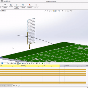 Kick a Field Goal with SOLIDWORKS Motion