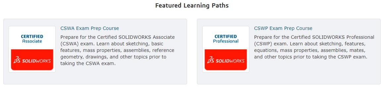 SOLIDWORKS Certification Prep courses