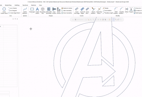 Wireframe and Fonts Mastercam 2020