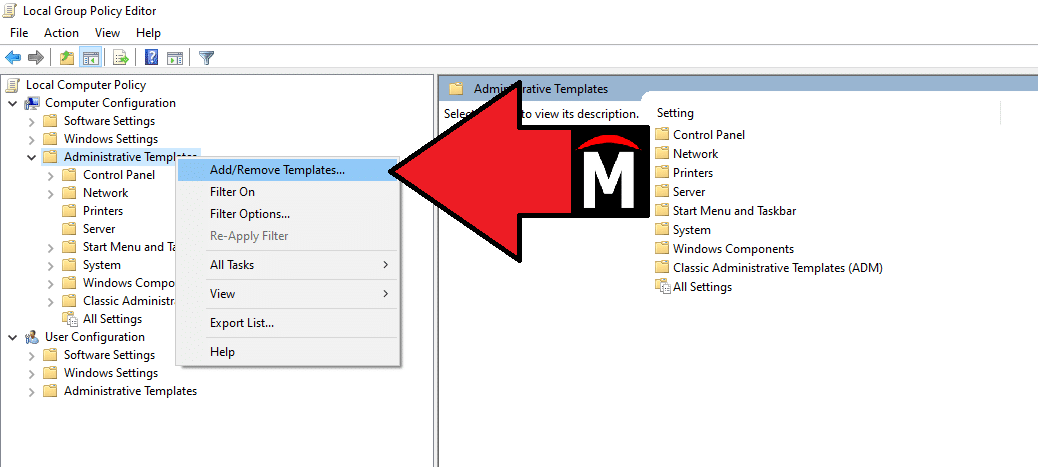 Add or Remove Templates PDM