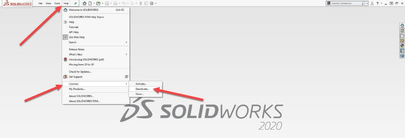deactivate existing solidworks machines