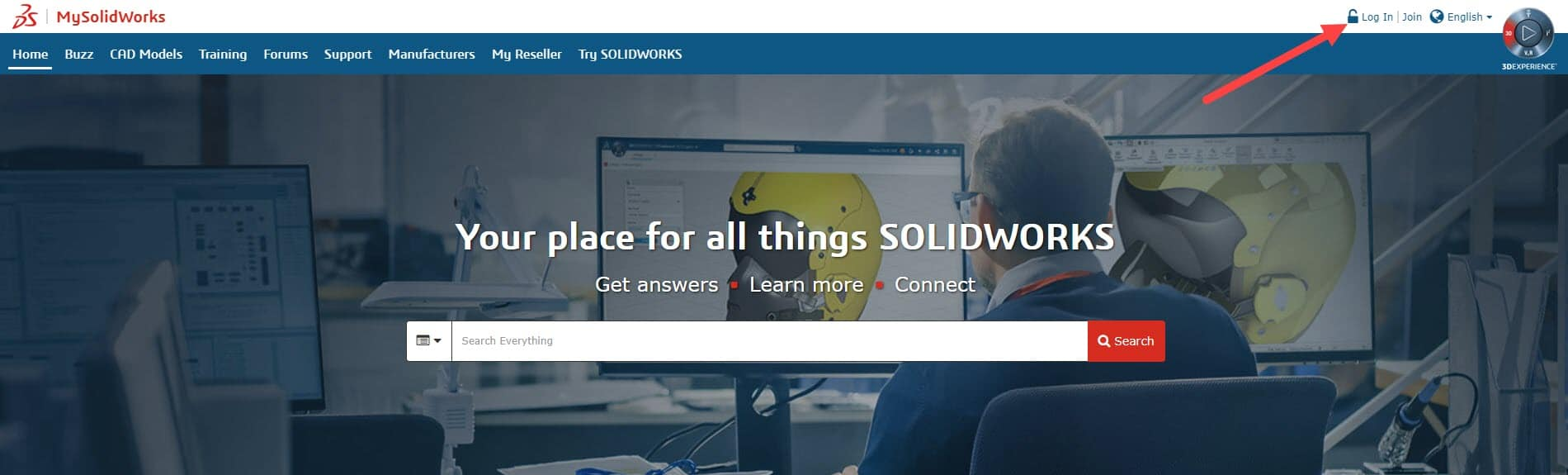 log in to my.solidworks portal