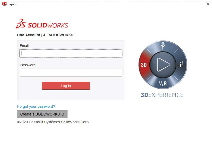 login to solidworks account
