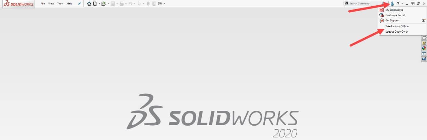 take SOLIDWORKS license offline
