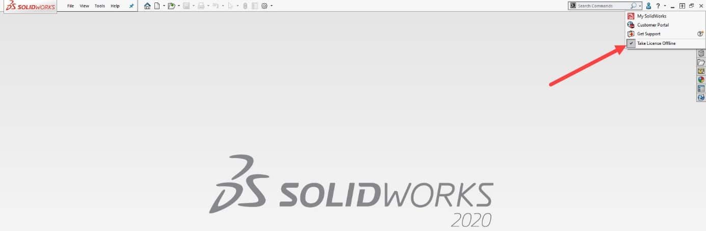 turn off solidworks online operation