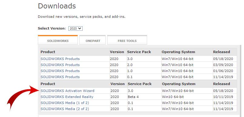 SOLIDWORKS Activation Wizard Download