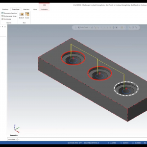 Mastercam Contour Toolpath - How to Specify Entry & Exit Points