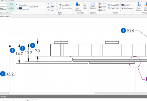 Key Feature Balloon Settings in SOLIDWORKS Inspection