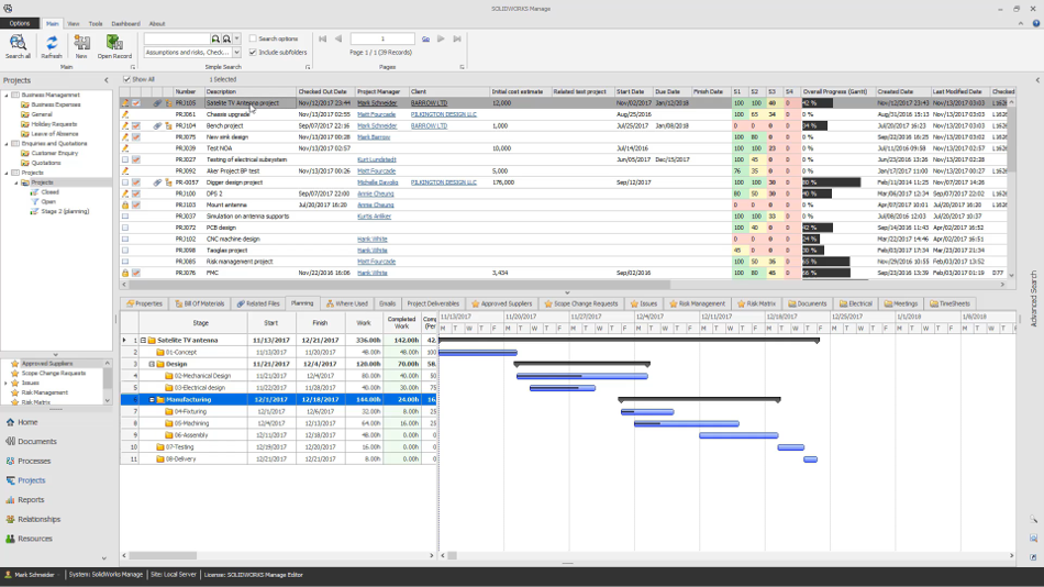 SOLIDWORKS Manage Project Management